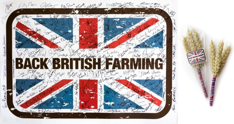 Back British Farming Day 2017 signed flag_49568