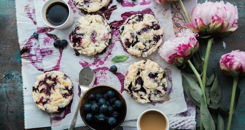 Blueberry cream scones_73557