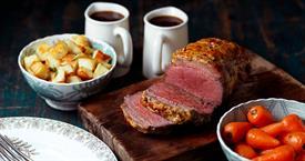 Beef mini roast with mustard crust_62738