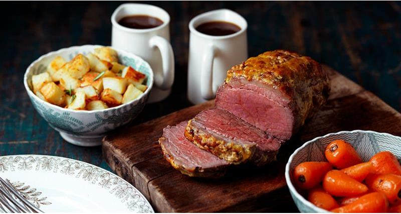Beef mini roast with mustard crust_62738