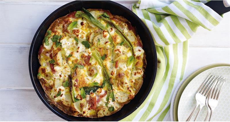 Spring onion and feta frittata Countryside Kitchen_60099