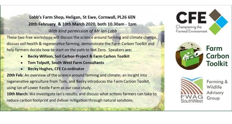 Low Carbon Farming Workshops - St Ewe, Cornwall. Feb 20th & March 10th