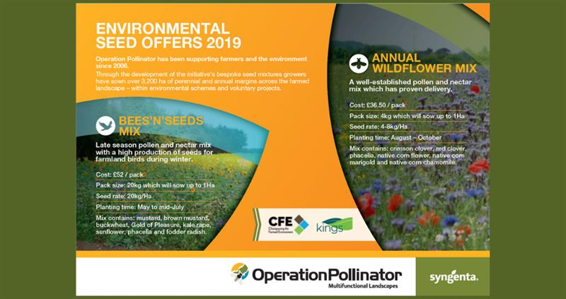 Environmental Seed Offers returned for 2019
