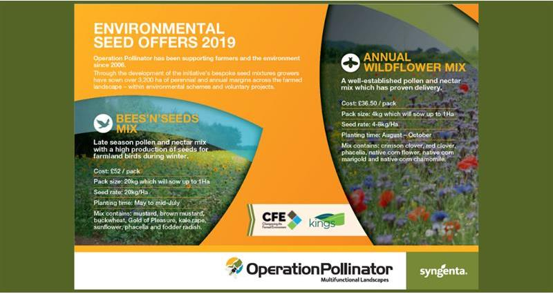 Environmental Seed Offers return for 2019