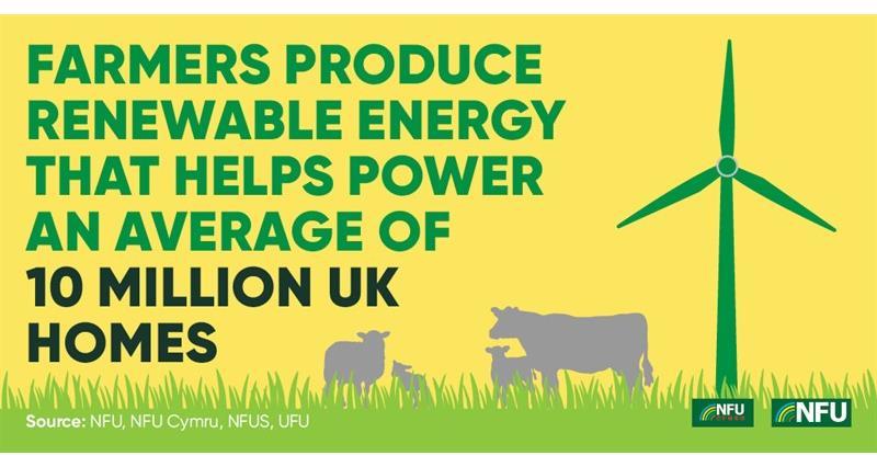 NFU Twitter infographic renewable energy