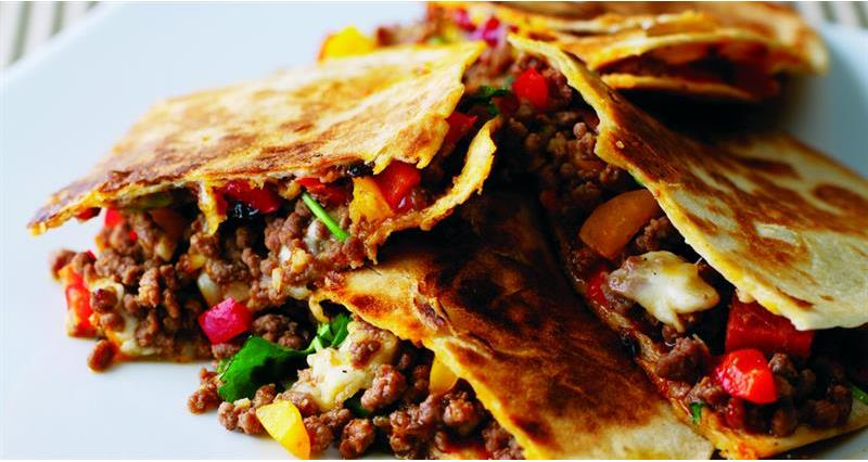 Beef and sweet pepper quesadillas