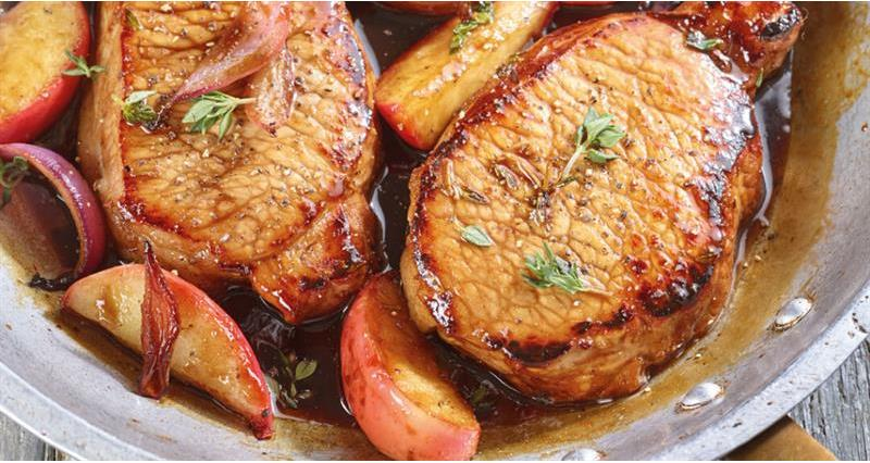 Balsamic Pork with Apples_69702