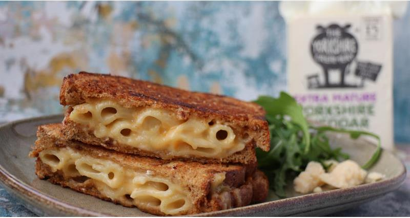 Mac and Yorkshire Cheddar Cheese Toastie._73439