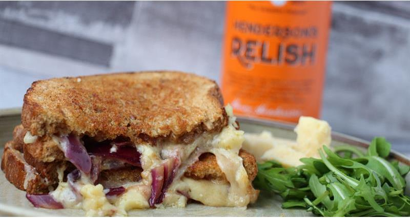 Yorkshire Cheddar, Red Onion & Hendersons relish toastie_73436