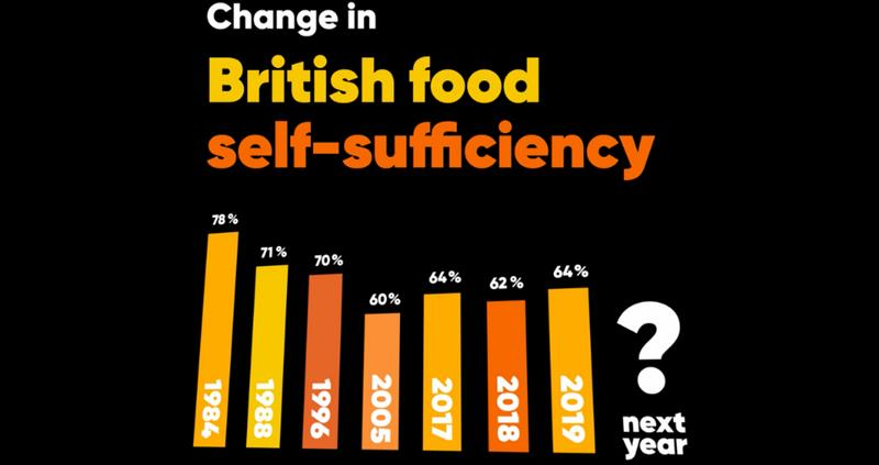 What does British food self-sufficiency mean?