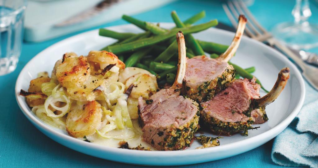 Crusted British lamb rack