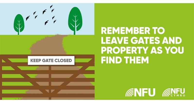Countryside Code leave gates and property NFU Twitter infographic