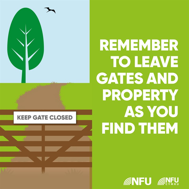 Countryside Code gates and property NFU Facebook Instagram infographic