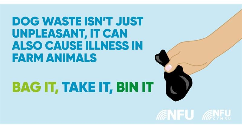 Countryside Code dog waste NFU Twitter infographic