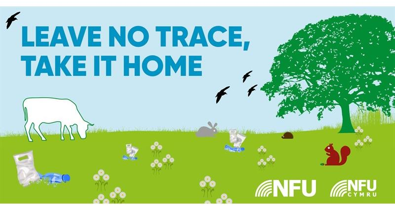 Countryside Code leave no trace NFU Twitter infographic