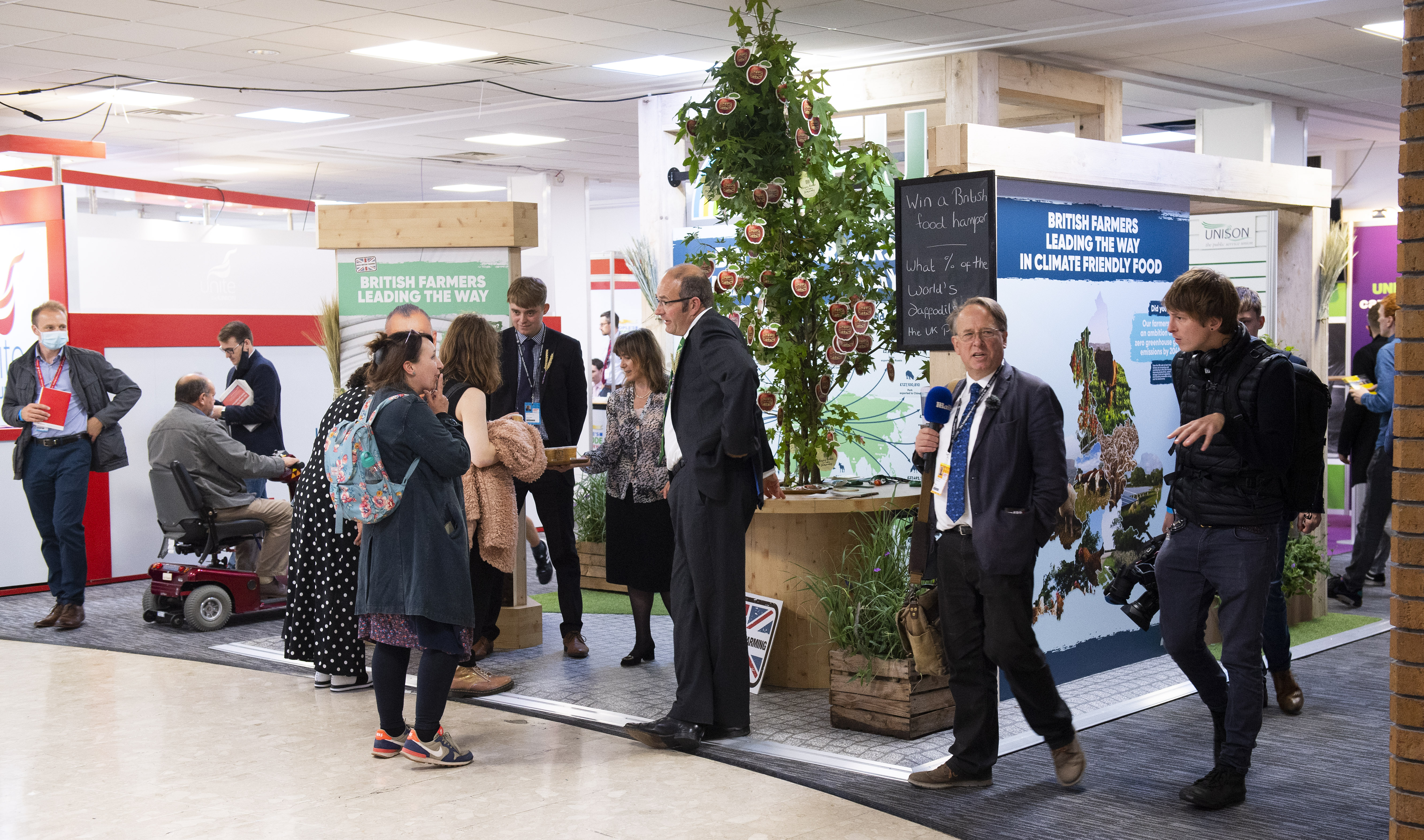 The NFU wins Best Exhibition Stand award at the 2021 Labour Party Conference