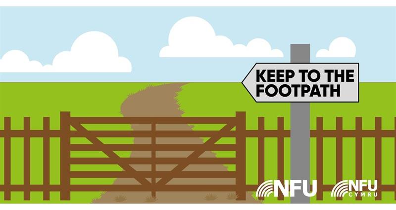 Countryside Code keep to the footpath NFU Twitter infographic