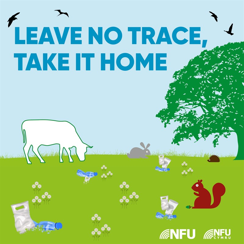 Countryside Code leave no trace NFU Facebook Instagram infographic