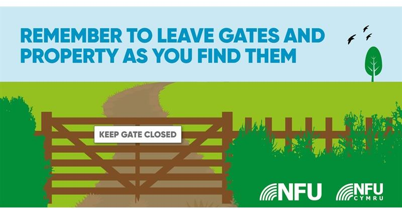 Countryside Code gates and property NFU Twitter infographic