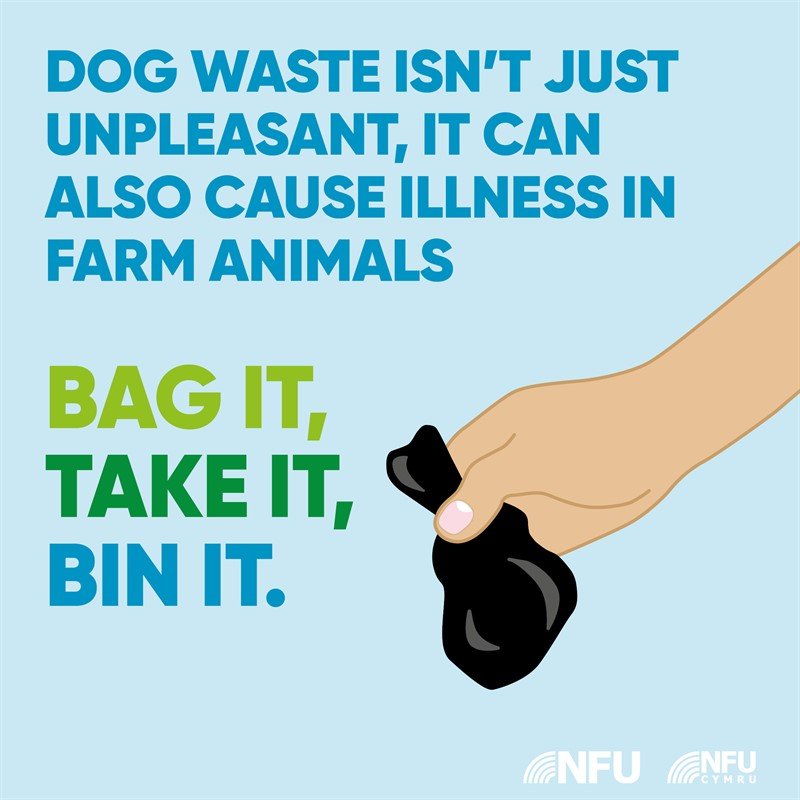 Countryside Code bag it and bin it NFU Facebook and Instagram infographic