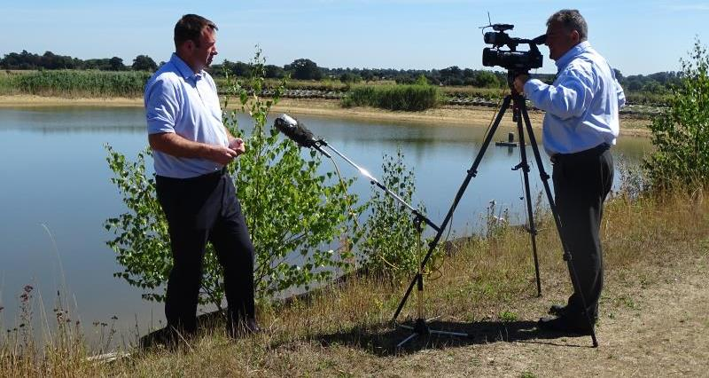 NFU media coverage on dry weather and water management