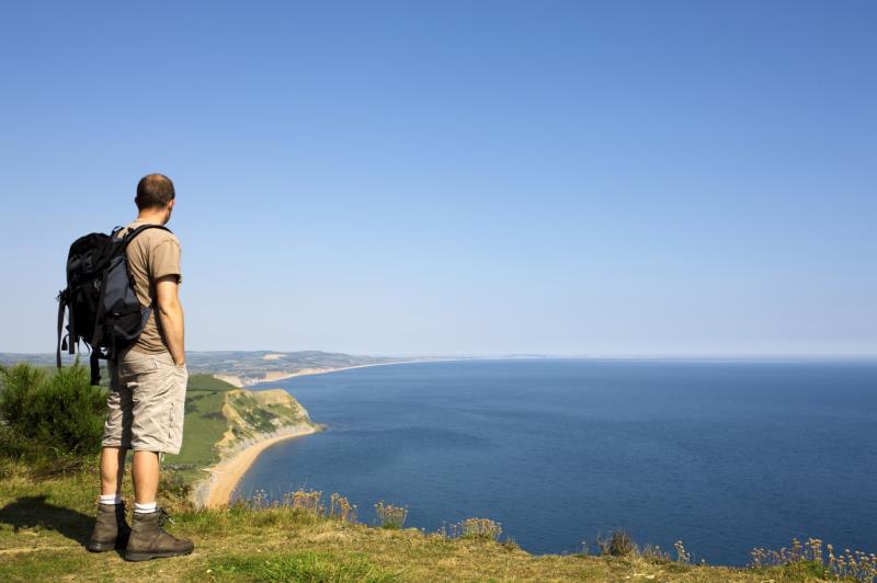 Walkers on a coastal path - July_6739