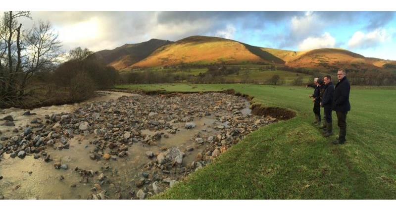 david hall and nfu staff see flood damage after december 2015 storms cockermouth_31957