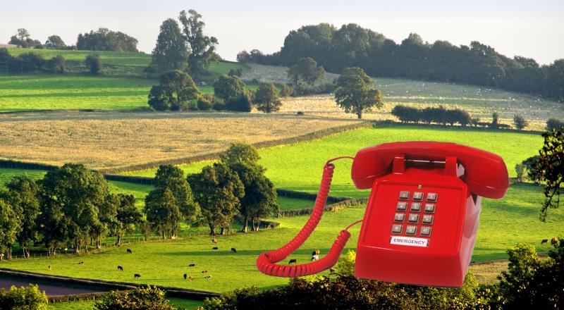 bps and callfirst image, red telephone on fields_33075