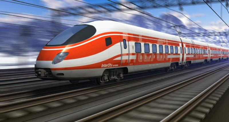High speed train with motion blur_19443