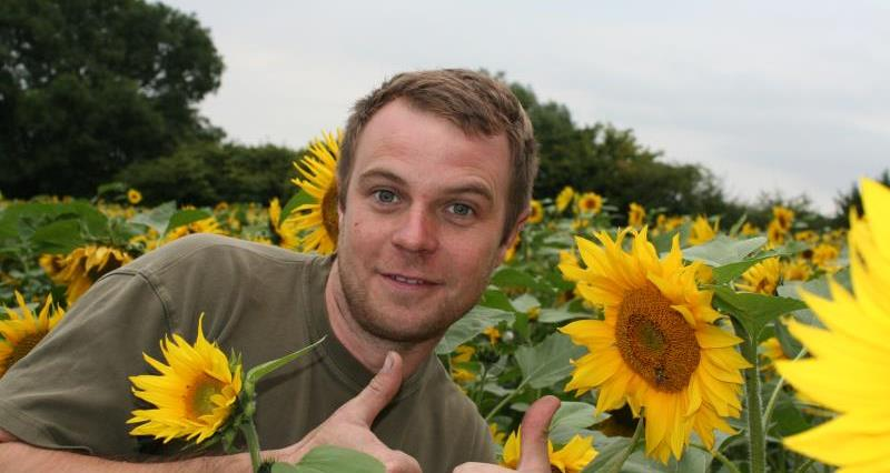 Olly's sunflowers grow support for charity