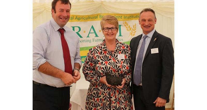 NFU Vice-President Stuart Roberts with NFU North West reps Diane Swift (regional co-ordinator) & David Hall (regional director) _65175