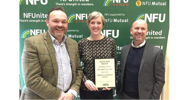 Chris Davies, Sarah Kitching and Chris James of Kendal and Sedbergh NFU_59388