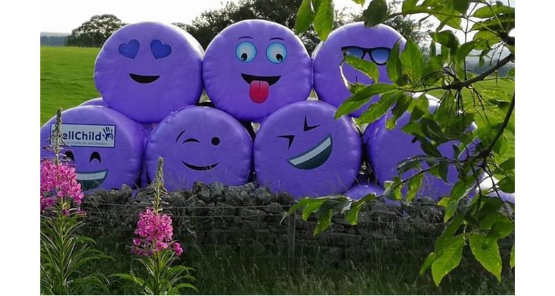 WellChild and Carrs Billington purple bales_73475