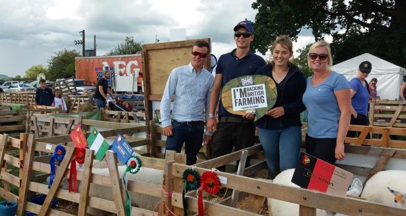Back British Farming sheep exhibitors Bucks show_46115