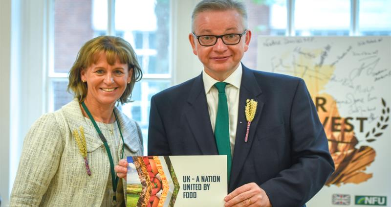 NFU President Minette Batters and Defra Secretary of State Michael Gove_57381