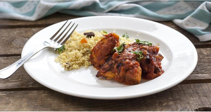 Slow cooked Morrocan chicken