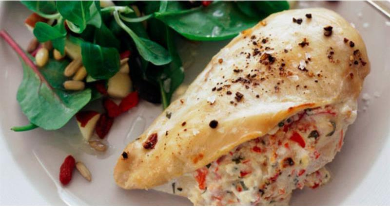 Stuffed chicken breast with cream cheese