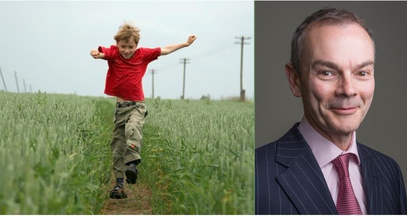 on-farm children safety boy running through field_52748