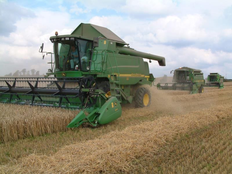 Wheat harvest combine_42270