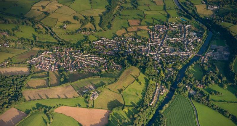 Aerial shot of farmland_21972