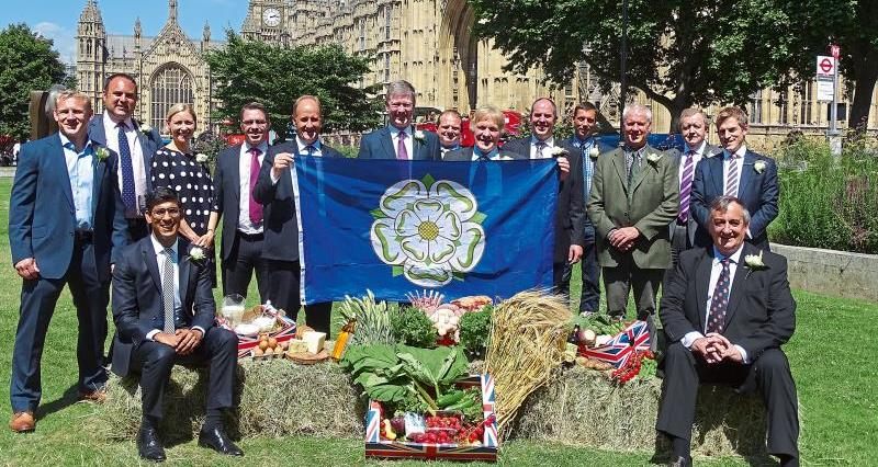 Group shot with Yorkshire Flag_45012