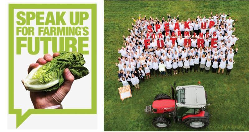 Speak up for farming logo and flag_53231