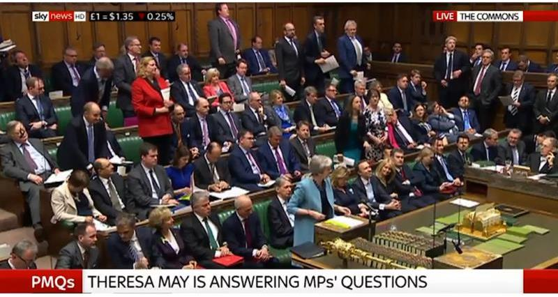 Theresa May recognises British food production in PMQs