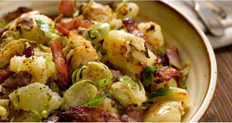 Potato and brussels sprout crush