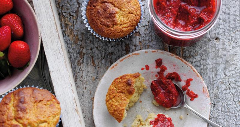 Strawberry Chia Jam and Almond Muffins _54256