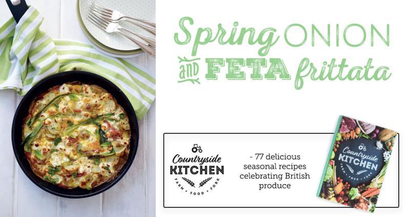Spring Onion & Feta Frittata - countryside kitchen_53084
