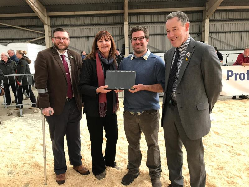 Adam Jones, Welsh dairy stockperson award_58189