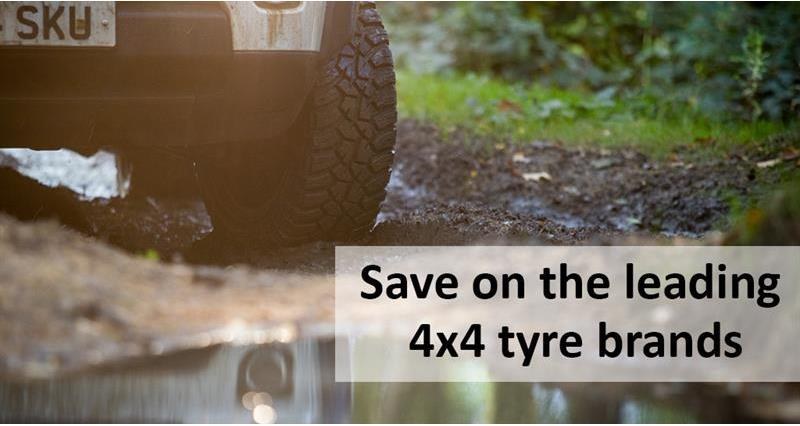 Save 5% on 4x4 Tyres