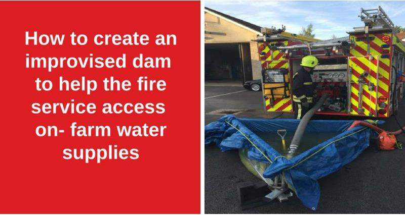How to help the fire service access on-farm water supplies