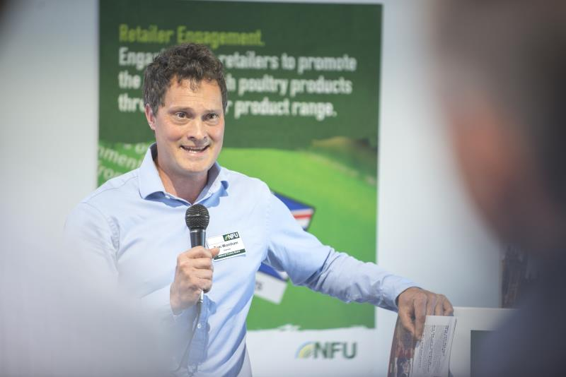 NFU poultry board chairman Thomas Wornham apprenticeship launch Pig & Poultry 2018_54053